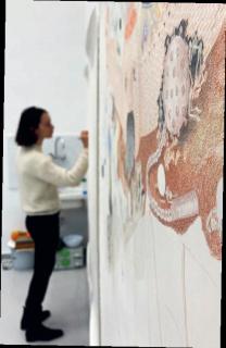 Retrato: © Sarah Blais - Visual: Vista del estudio - Bianca Argimon — Cortesía de CRUCE-Arte y pensamiento