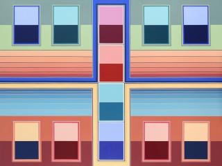Serie Puertas nº17, 2017, acrílico sobre tela, 150 x 200 cm