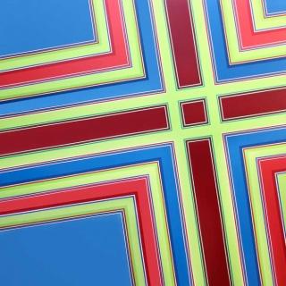 Serie Simetrías nº22, 2009, acrílico sobre tela, 180 x 180 cm