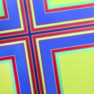 Serie Simetrías nº25, 2010, acrílico sobre tela, 180 x 180 cm