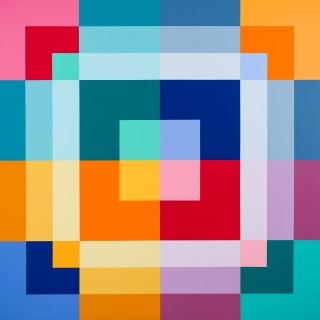 Serie Cuadrículas nº13, 2019, acrílico sobre tela, 150 x 150 cm
