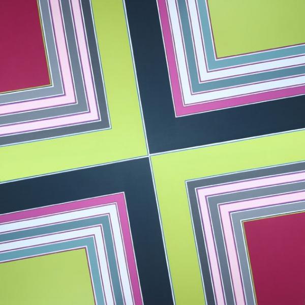 Simetría nº13 - 2009 - acrílico sobre tela - 180 x 180 cm