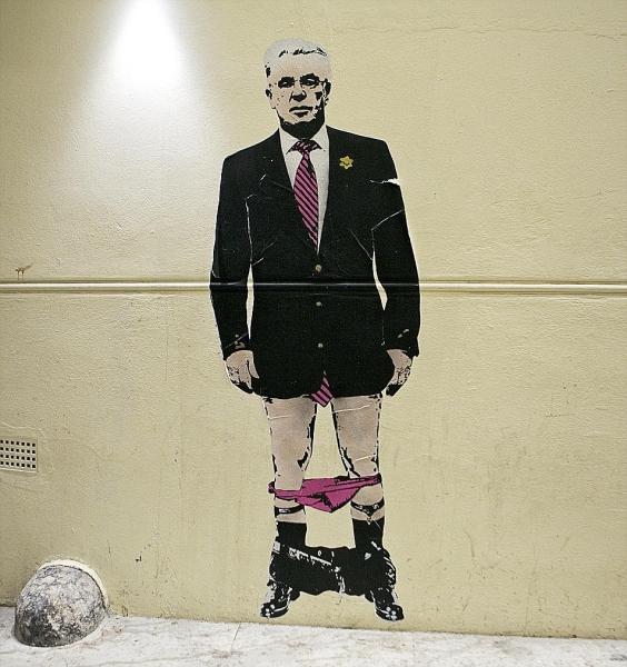 Banksy. Cortesía del Daily Mail