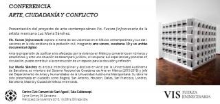 Conferencia Arte y Conflicto Barcelona 2016