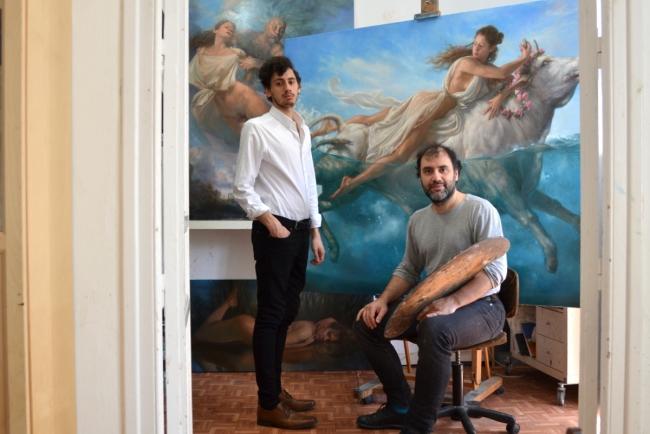 Antonio y Alejandro DeCinti en su taller