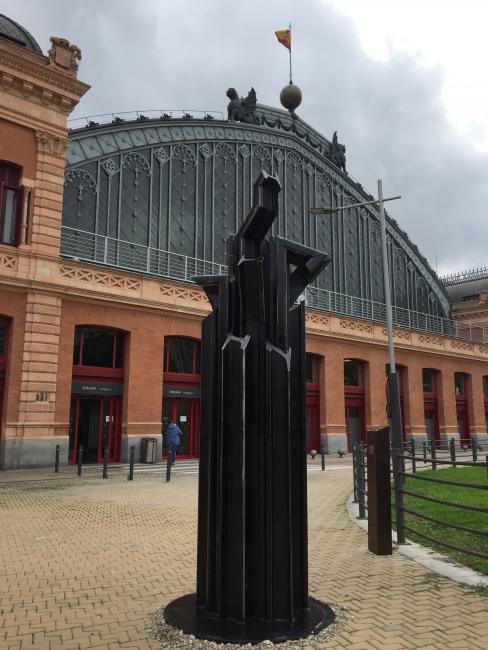 Memorial Ferroviarios Represaliados. Fachada principal Estación Atocha (Madrid)