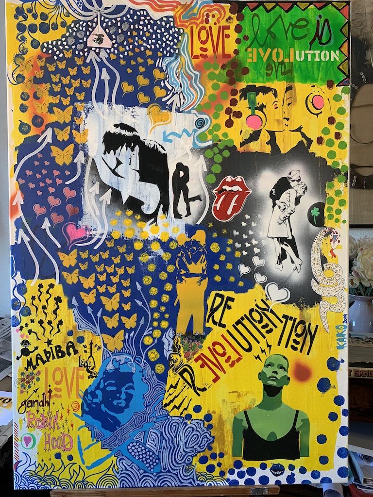 Love is revolution (2019) - Kako Street Art