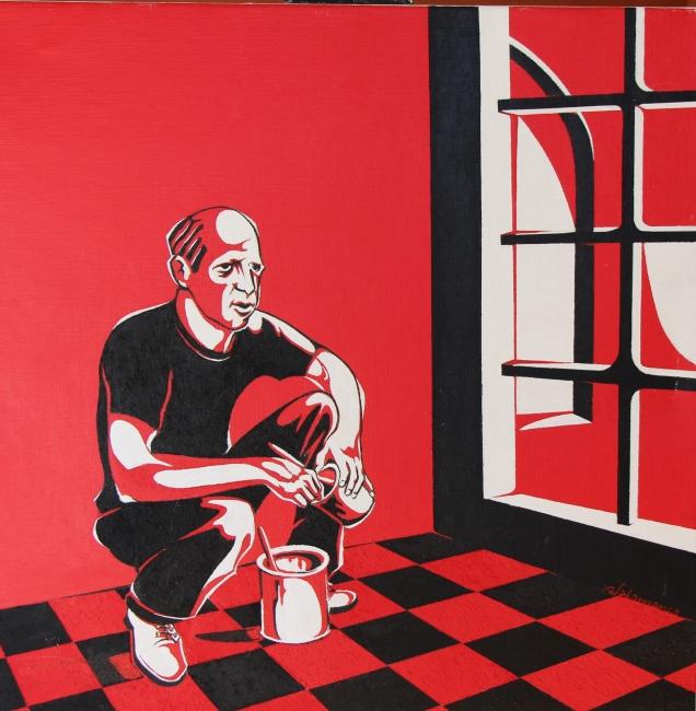 Mirada (rojo y negro)