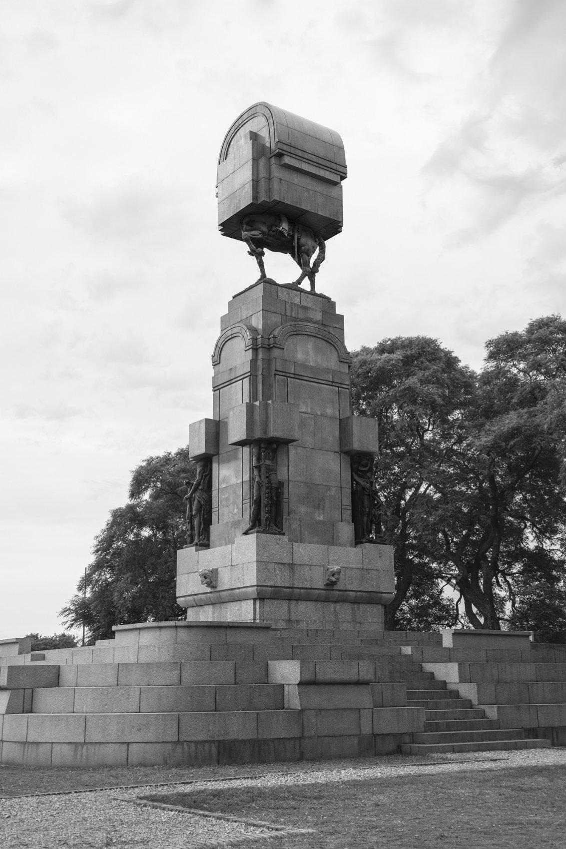Ecuestre n°7. Serie Monumento Editado, Chile-Perú-Bolivia-Argentina