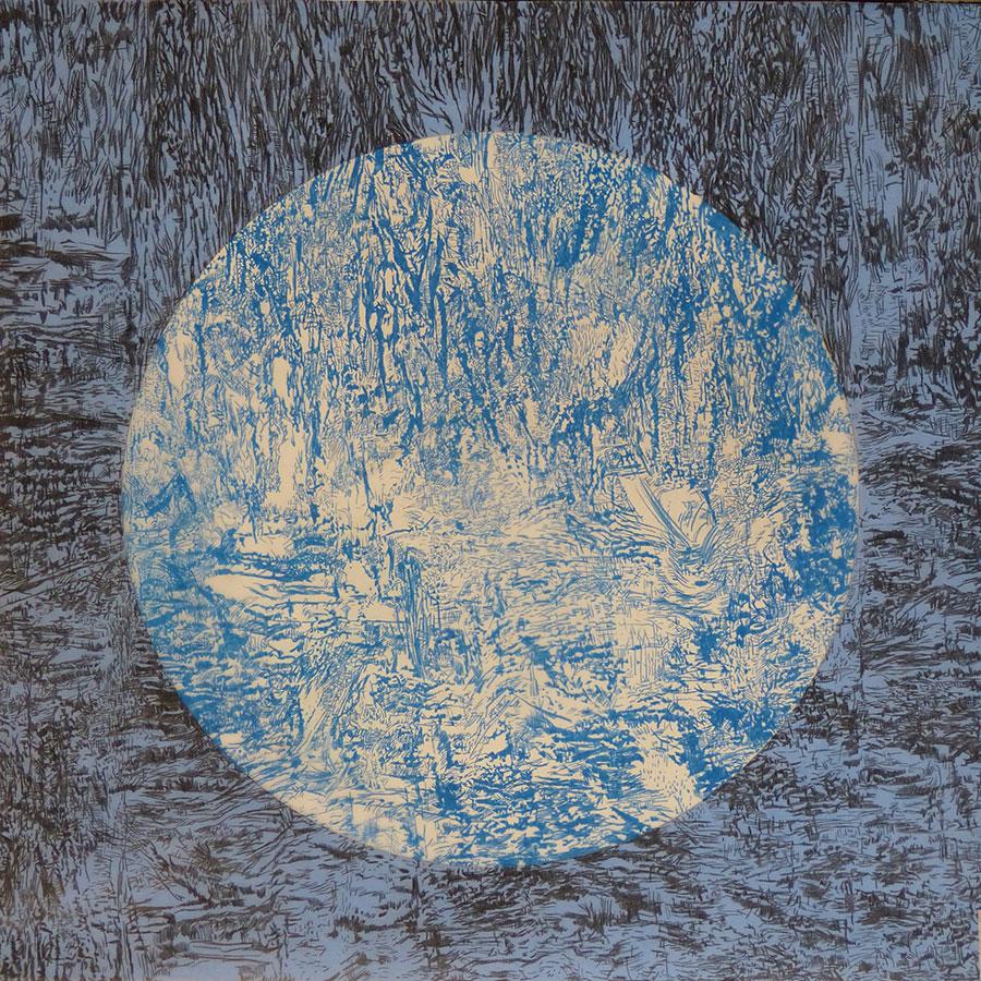 Azul Copenague grande (2017) - Ángela Nordenstedt