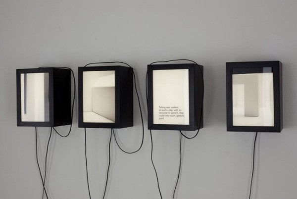 Evident In Advance (small lightboxes) 55th Art Biennale.