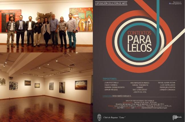Exposición Colectiva ¨Contextos Paralelos¨- Sala de Exposiciones del Club de Regatas ¨Lima¨- Año 2015