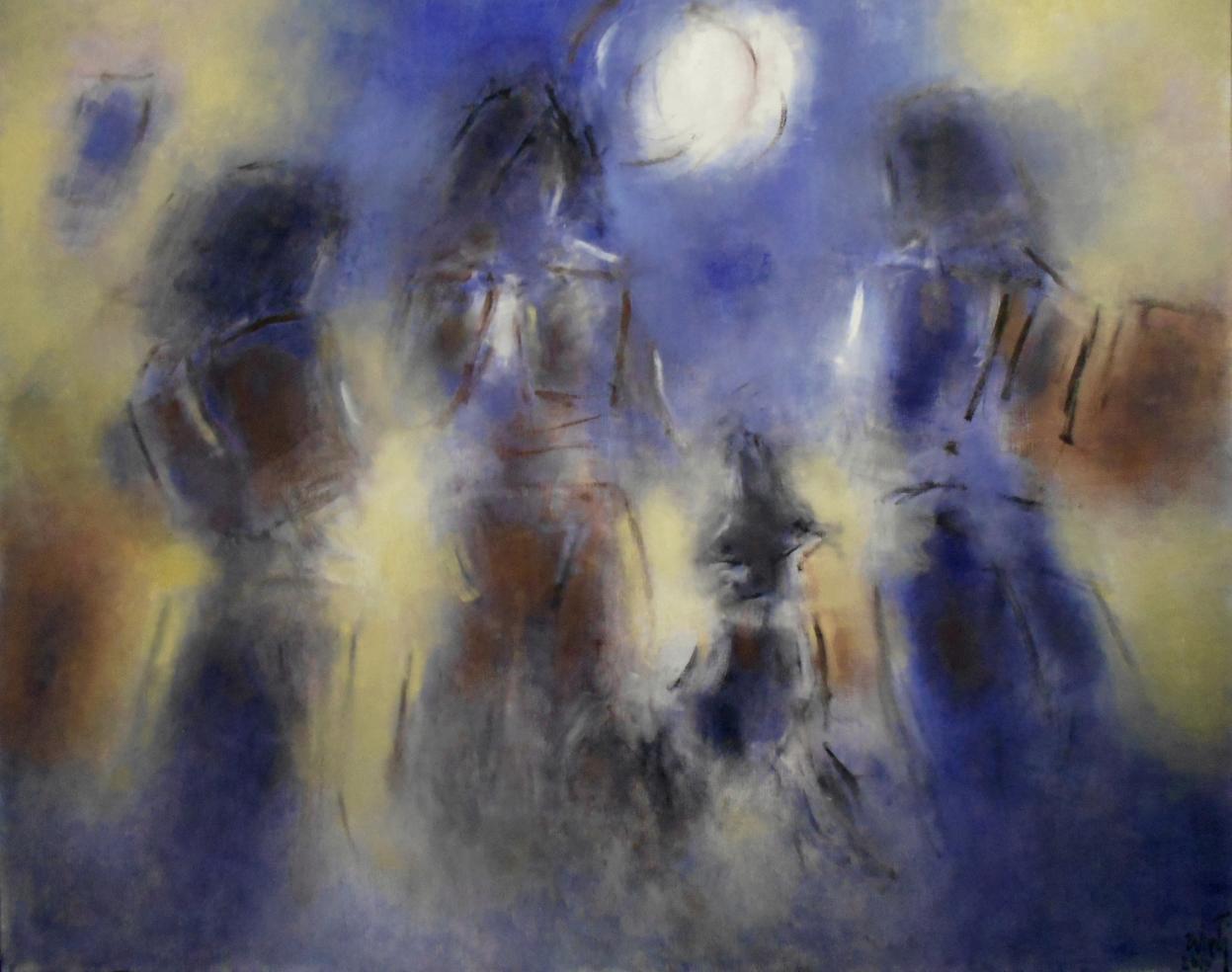 Luna-óleo sobre tela (2019) - Luis Zilveti