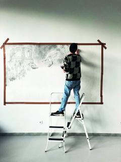 Vista del estudio - Clara Marciano — Cortesía de CRUCE-Arte y pensamiento