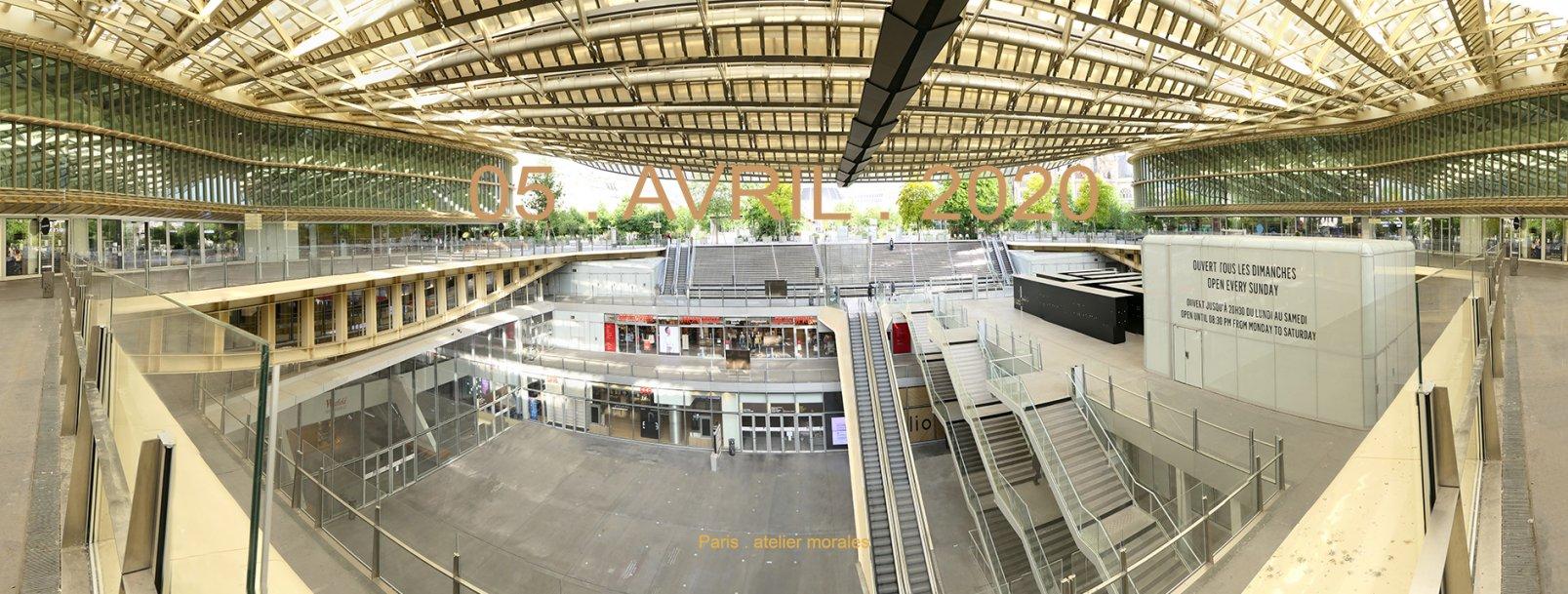 21eme jour confinement. Place Pina Bausch. Canopée Les Halles Paris (2020) - Teresa Ayuso & Juan Luis Morales  - Atelier Morales