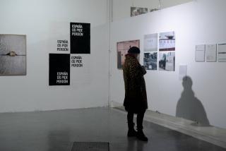 Exposición de España os Pide Perdón de Abel Azcona
