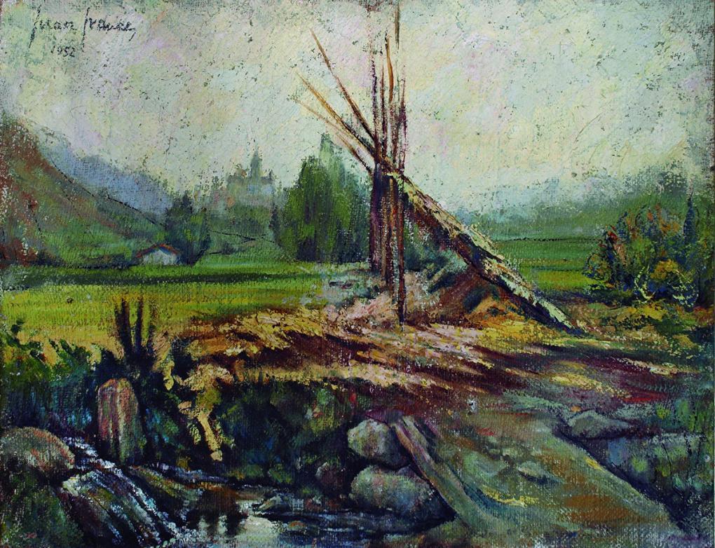 Paisaje 'La huerta de Xàtiva' (1952) - Juan Francés Gandía - Juan Francés