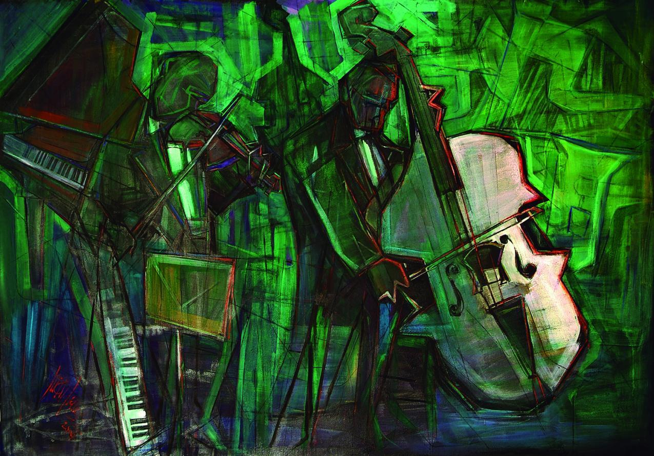 Músicos 'contrabajo y violín' (2003) - Juan Francés Gandía - Juan Francés