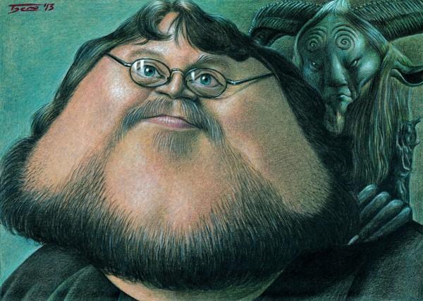 Guillermo del Toro - dibujo de Walter Toscano