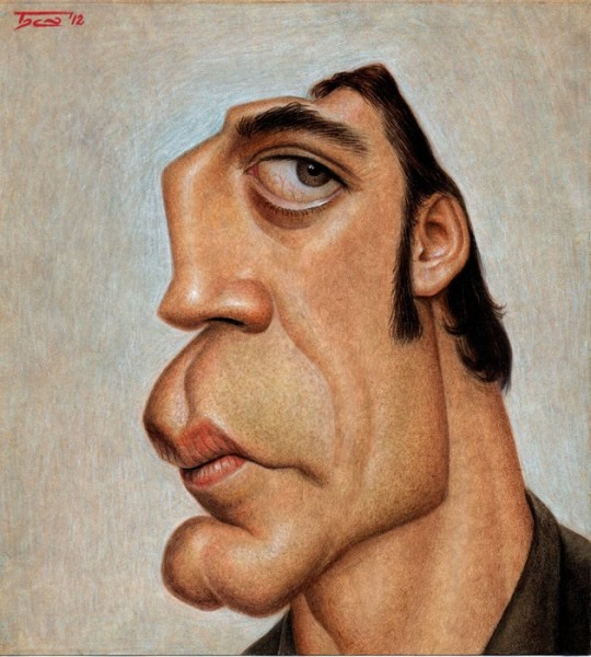 Javier Bardem - Dibujo de Walter Toscano