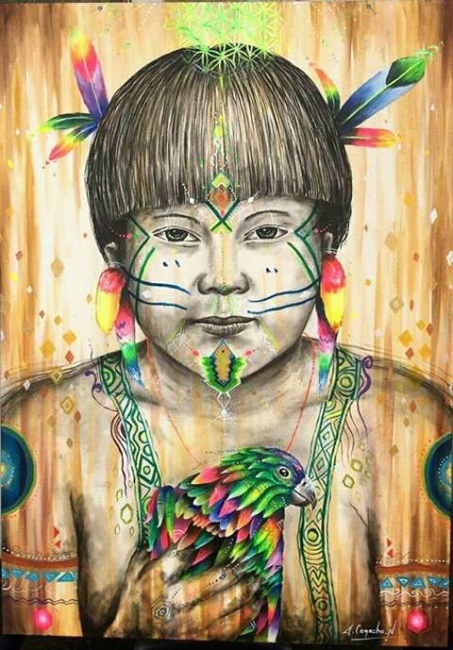 Niño Indígena Yanomami