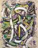 """A letra """"B'- A4(21x29,7cm) - Técnica mista de pintura sobre papel"""