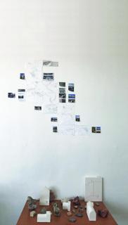 Vista del estudio - Alessandra Monarcha Souza e Silva Fernandes — Cortesía de CRUCE-Arte y pensamiento