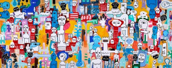 SOCIAL NO FANTASY Mixta sobre lienzo 240 X 600 cm