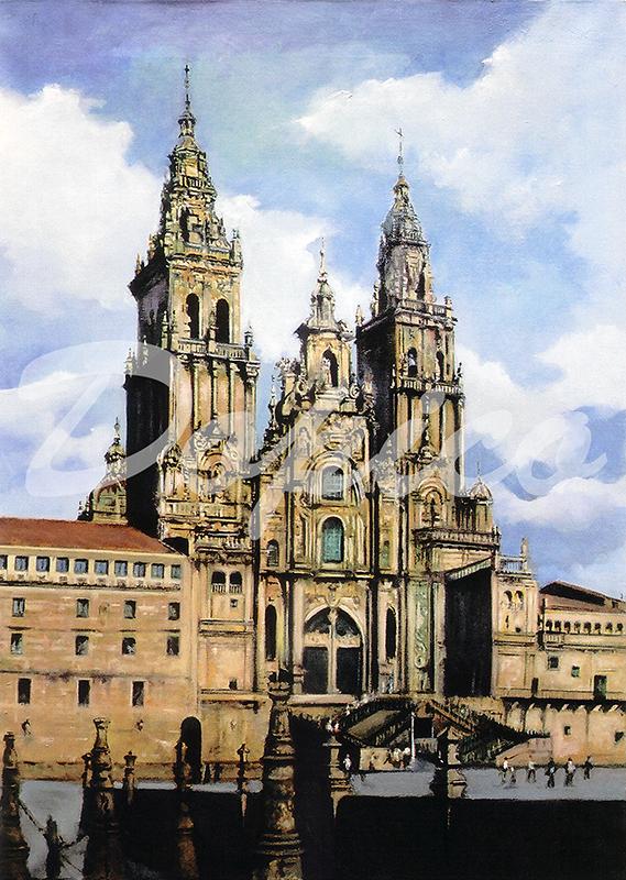 Catedral de Santiago de Compostela/Santiago de Compostela Cathedral.