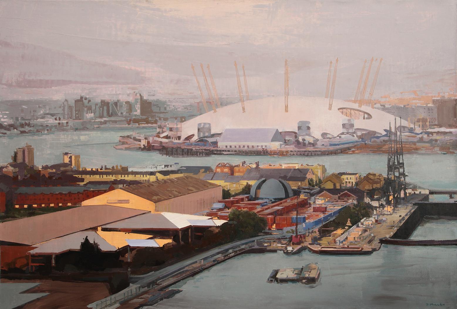 Muelle Sur  y O2 Arena.  Lóndres