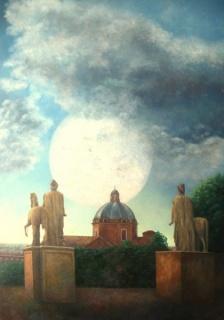 PLANETA EN ROMA, óleo/lienzo/tabla, 120 x 90 cm. 2012.