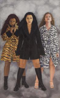 """""""Pieles"""" de la exposición ¡Qué tal raza! en Galería Forum, 2002. Cortesía de la artista"""