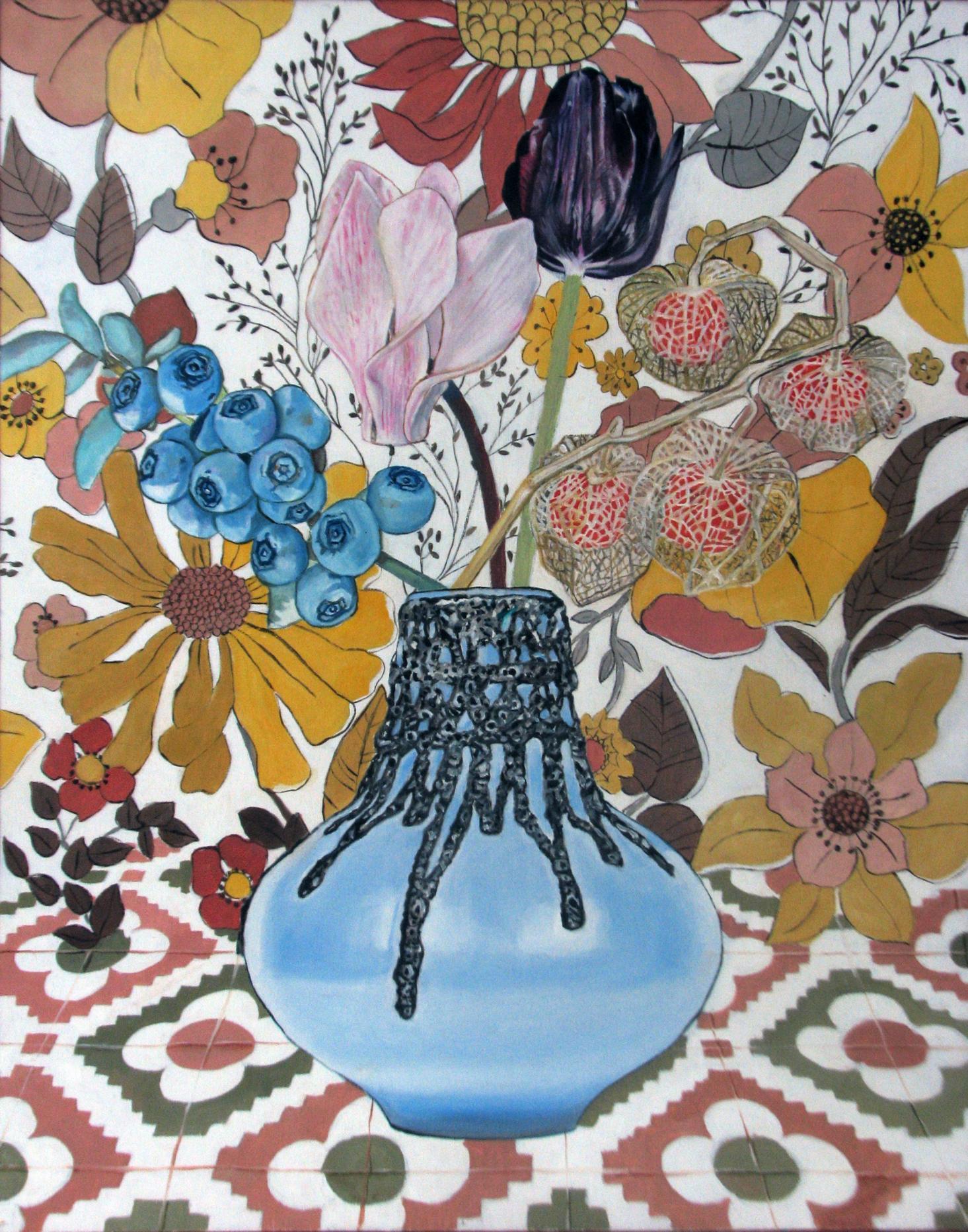 Florero azul lava (2018) - Eva Nordholt