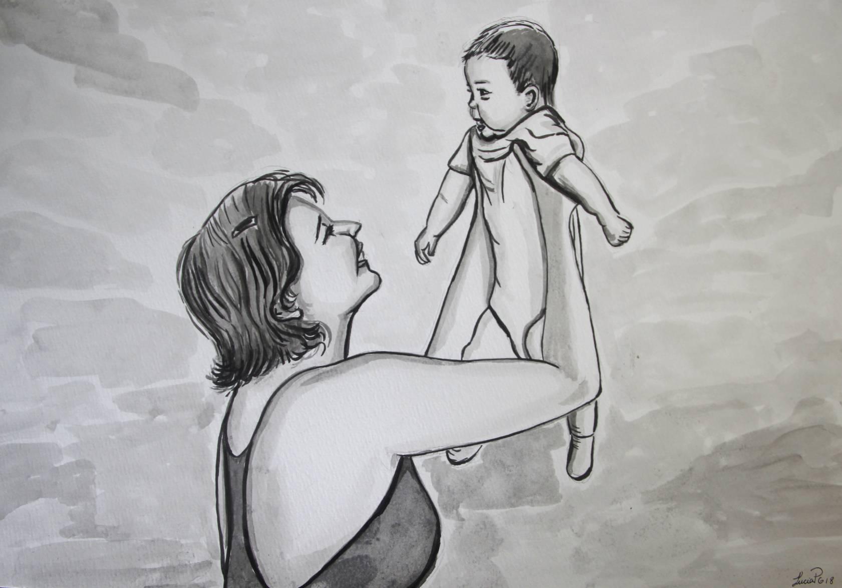 Madre e hijo (2018) - Lucía Portocarrero Guzmán - Lucia PG