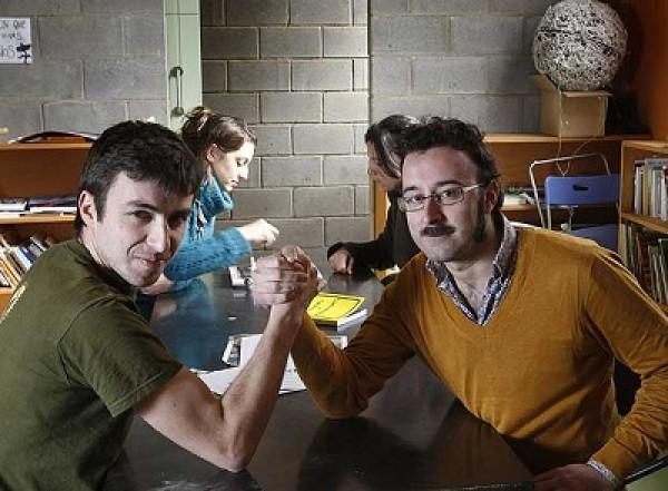 David Bestué, a la izquierda, y Marc Vives