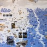 """""""Viisones sobre la subjetividad"""", óleo, tinta, grafito, carbonilla y acrílico sobre lienzo, 149 x 149 x 2,5 cm, 2017"""