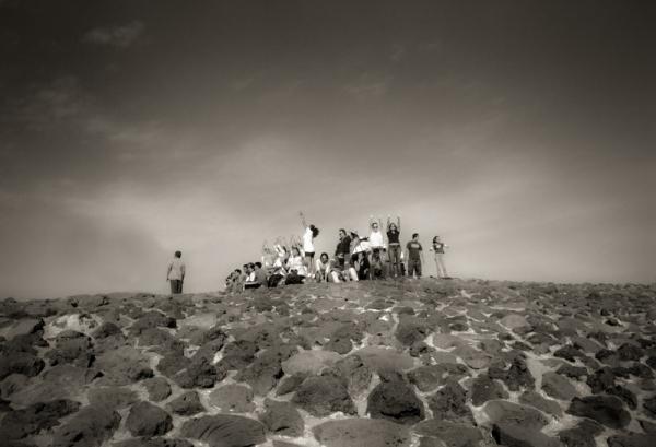 Adoradores del sol, Teotihuacan, México, 2003