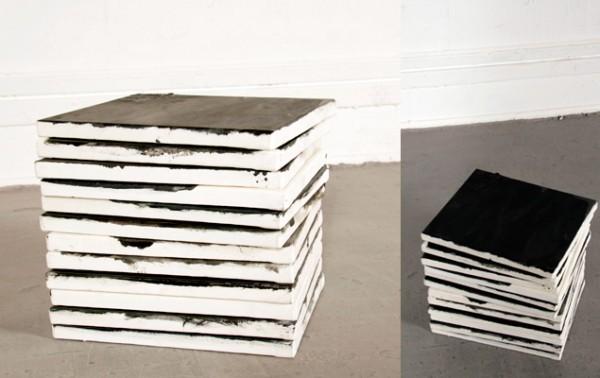 Cube:12 blacks. Óleo sobre lienzo. 2008