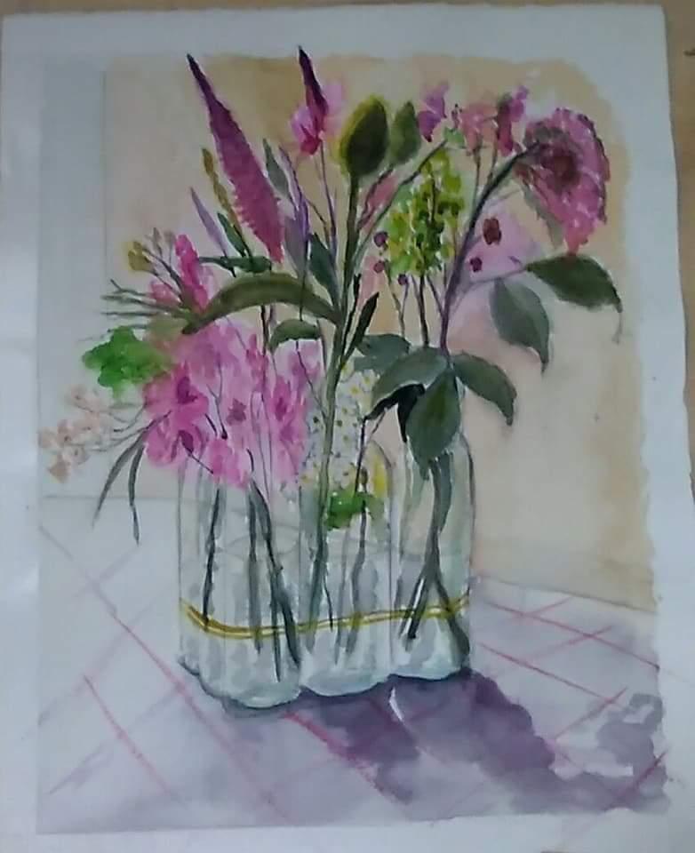 Jarron con flores I