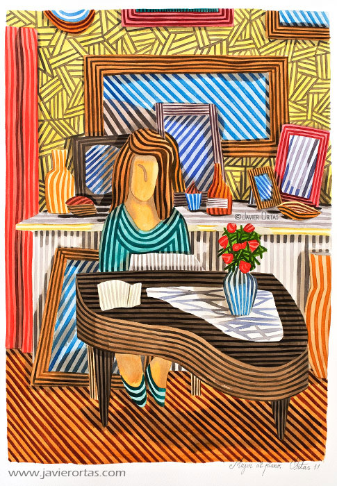 Mujer al piano (2011) - Javier Ortas