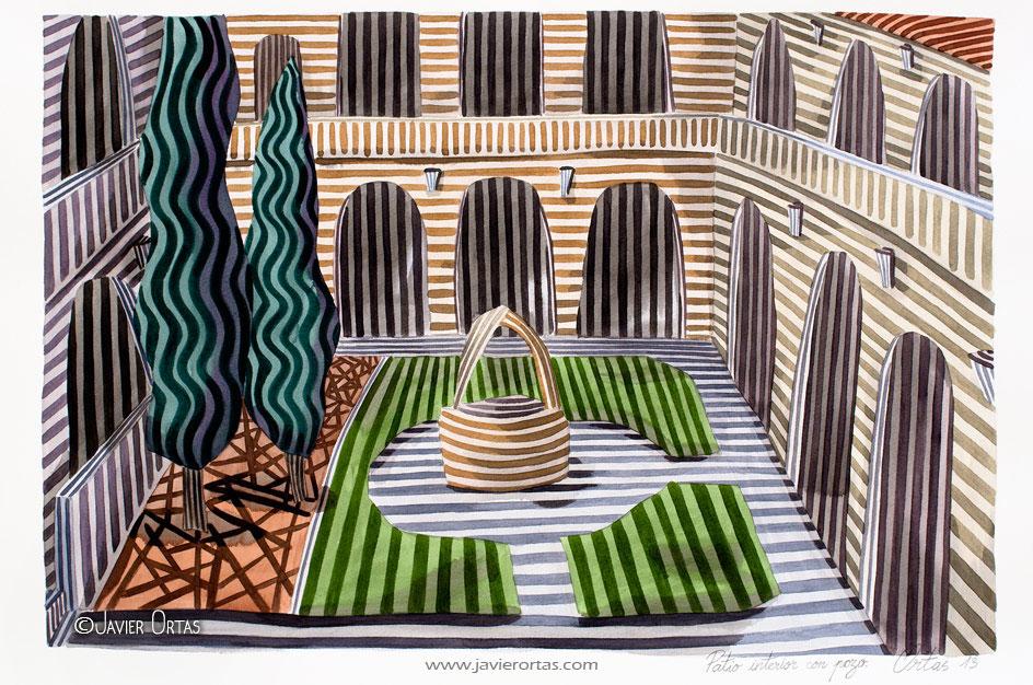 Patio interior con pozo. (2013) - Javier Ortas