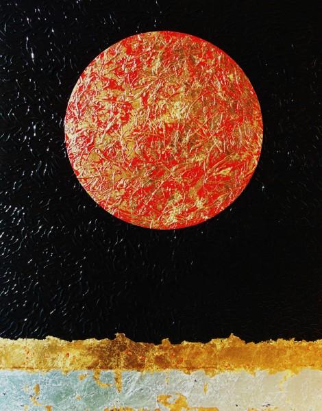 Nocturno I [acrílico y pan de oro sobre lienzo] 2015 (150x114)