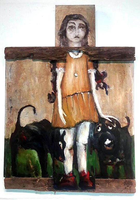 Nena con perros