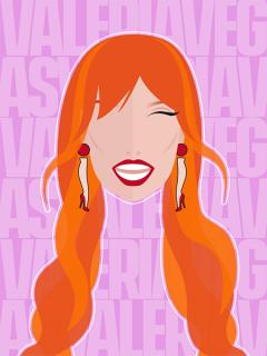 Retrato vectorial de Valeria Vegas