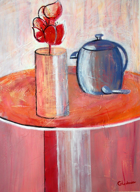 Café con flor