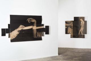 Vista de la exposición BANDAGE THE KNIFE NOT THE WOUND en Nogueras Blanchard. Cortesía de los artistas