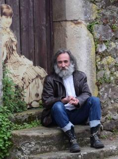 """Roberto Pajares """"Pájaro"""" en ASELART 2018, Mazcuerras (Foto: Luis Miguel San Martín)"""