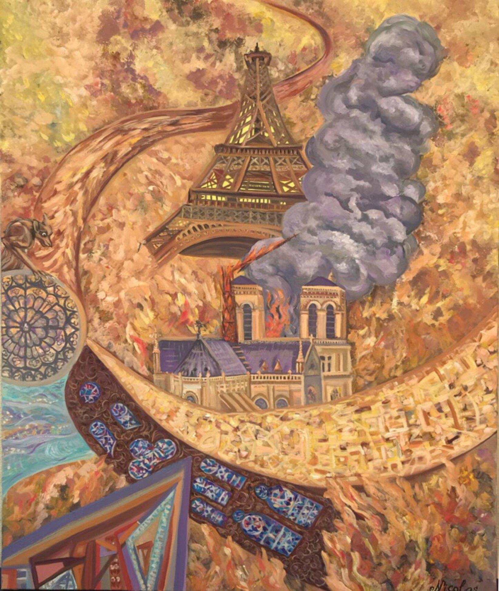 """""""Notre-Dame"""" (2019) - Pintor Nicolas"""