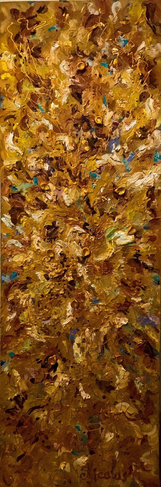 """Otoño dorado"" (2019) - Pintor Nicolas"