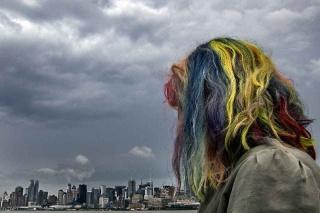 Egisto N. Ceccatelli - Guardando Manhattan oltre l'East River. (2013)